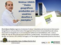 Webinar UNIGIS: Dados geográficos produzidos por usuários: desafios e exemplos