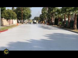 La excesiva temperatura urbana desciende gracias a calles blancas y pintura especial