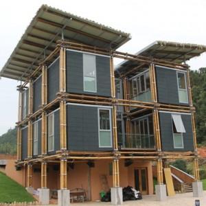 Casa construida en bambú utiliza el agua subterránea como refrigeración natural