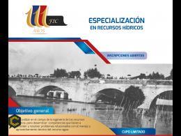 ESPECIALIZACIÓN EN INGENIERÍA EN RECURSOS HÍDRICOS