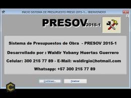 Presov. Software para presupuestos y control de costos de obras