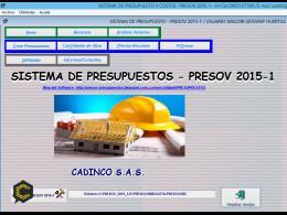 Presov, Software para Administrar Obras Civiles y Eléctricas