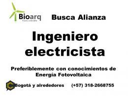 Se busca Ingeniero Electricista  para alianza en proyectos