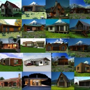 Diseño de casas, planos, modelos 3D.