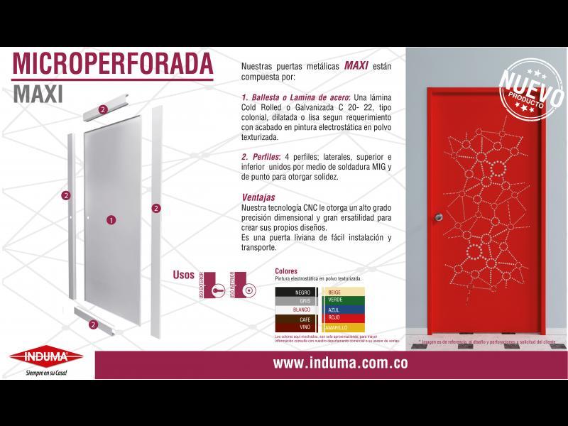 Puerta Maxi Microperforada