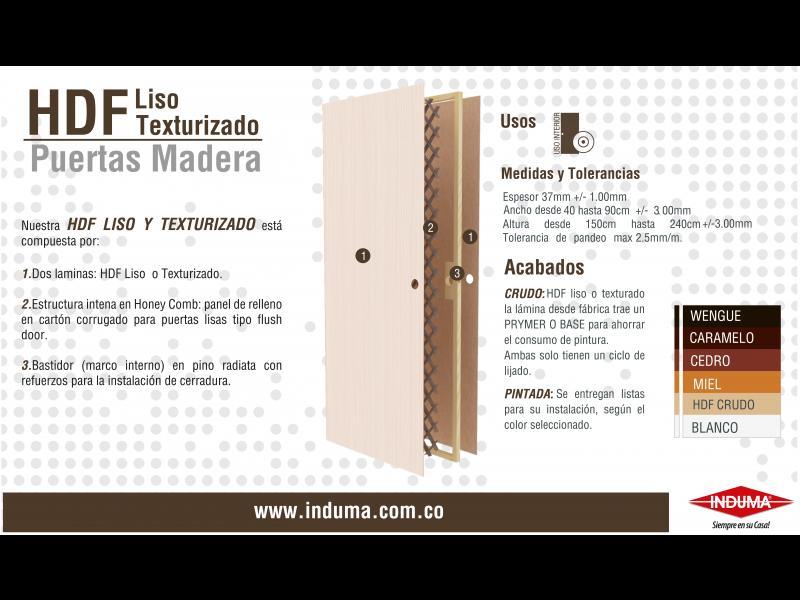 Puerta HDF - INDUMA S.C.A | Construyored