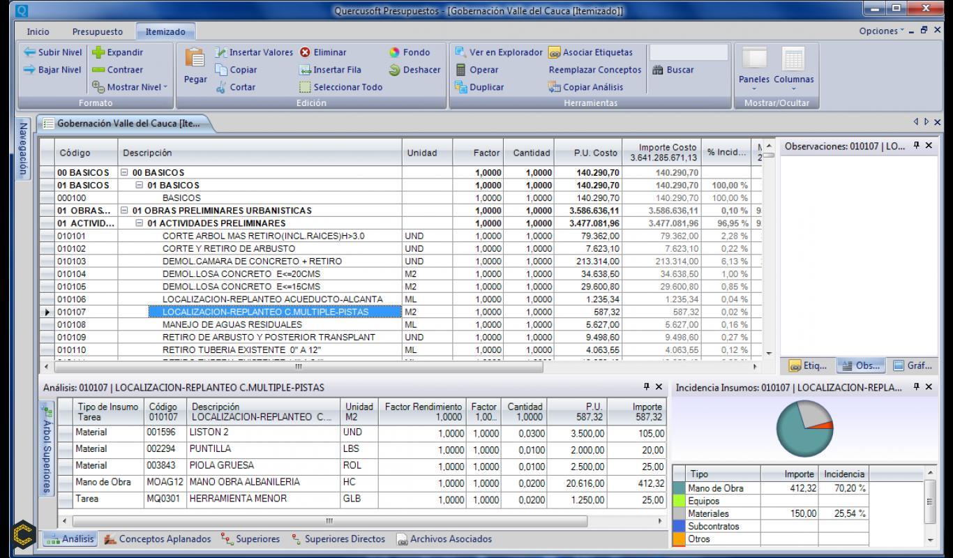 Software Presupuestos y Precios Unitarios de Obra COP *****.*****   USD 79
