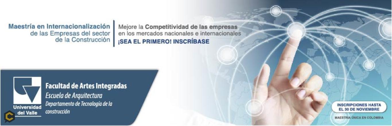 SEA EL PRIMER MAESTRO EN INTERNACIONALIZACION DE EMPRESAS DEL SECTOR DE LA CONSTRUCCION