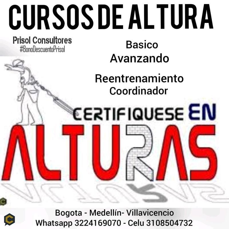 NECESITAS CURSO DE ALTURA -básico-reentrenamiento-avanzado-coordinador