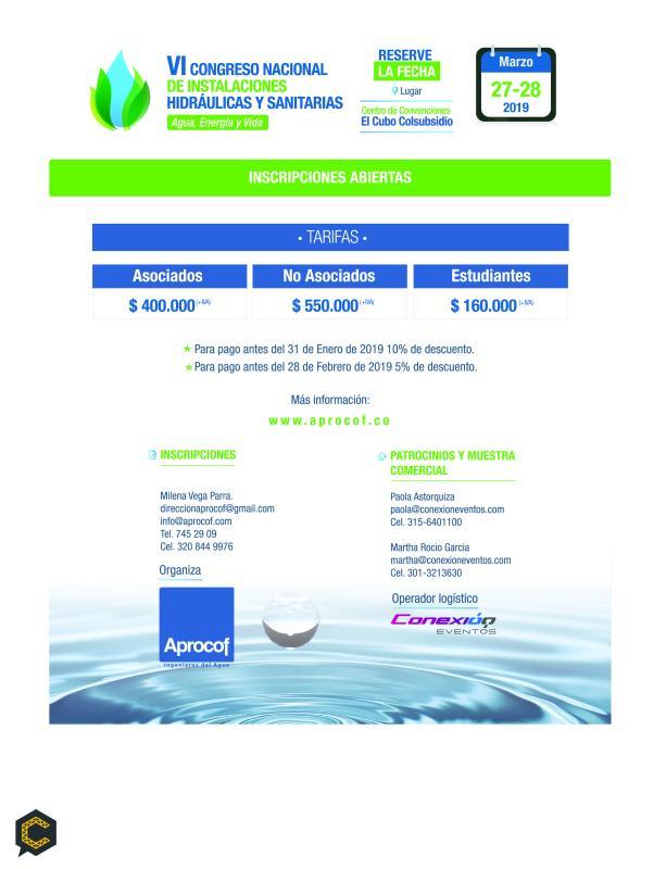 VI Congreso nacional de instalaciones hidráulicas y sanitarias