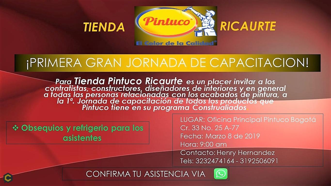 CAPACITACIÓN PINTUCO TIENDA RICAURTE