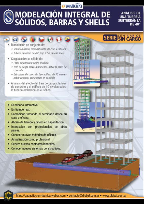 Modelado, análisis y documentación de estructuras con barras placas y sólidos