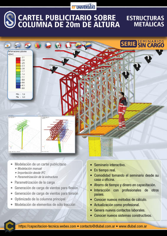 Modelado, análisis, diseño y documentación de una estructura de barras de acero