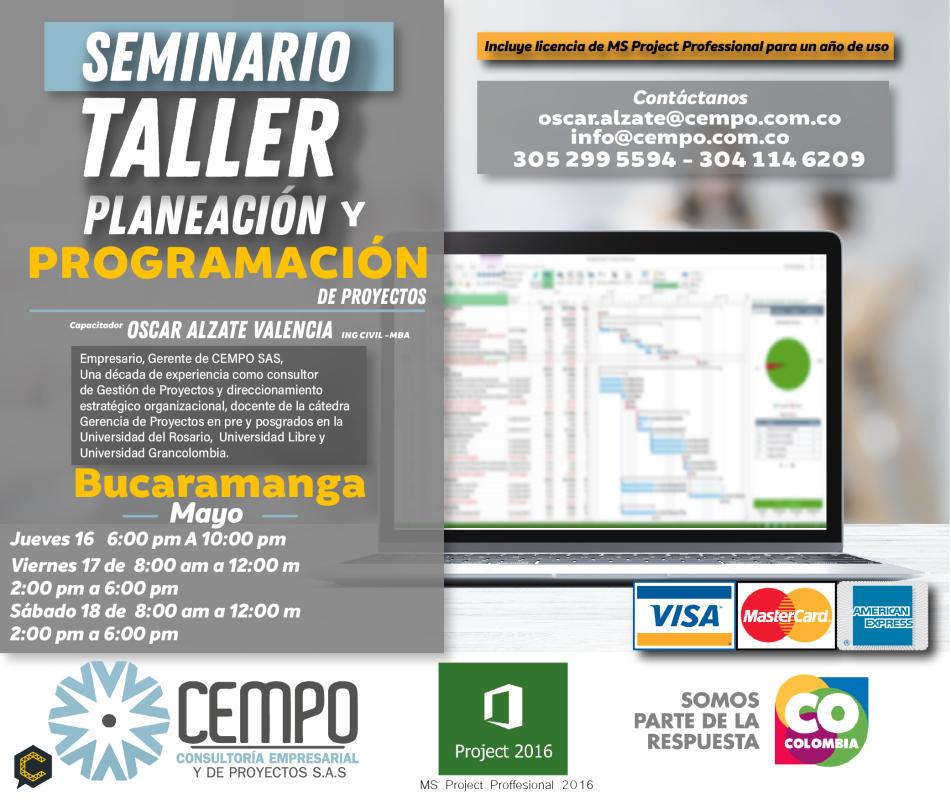 Bucaramanga. Seminario Taller MS PROJECT PROFFESIONAL *****