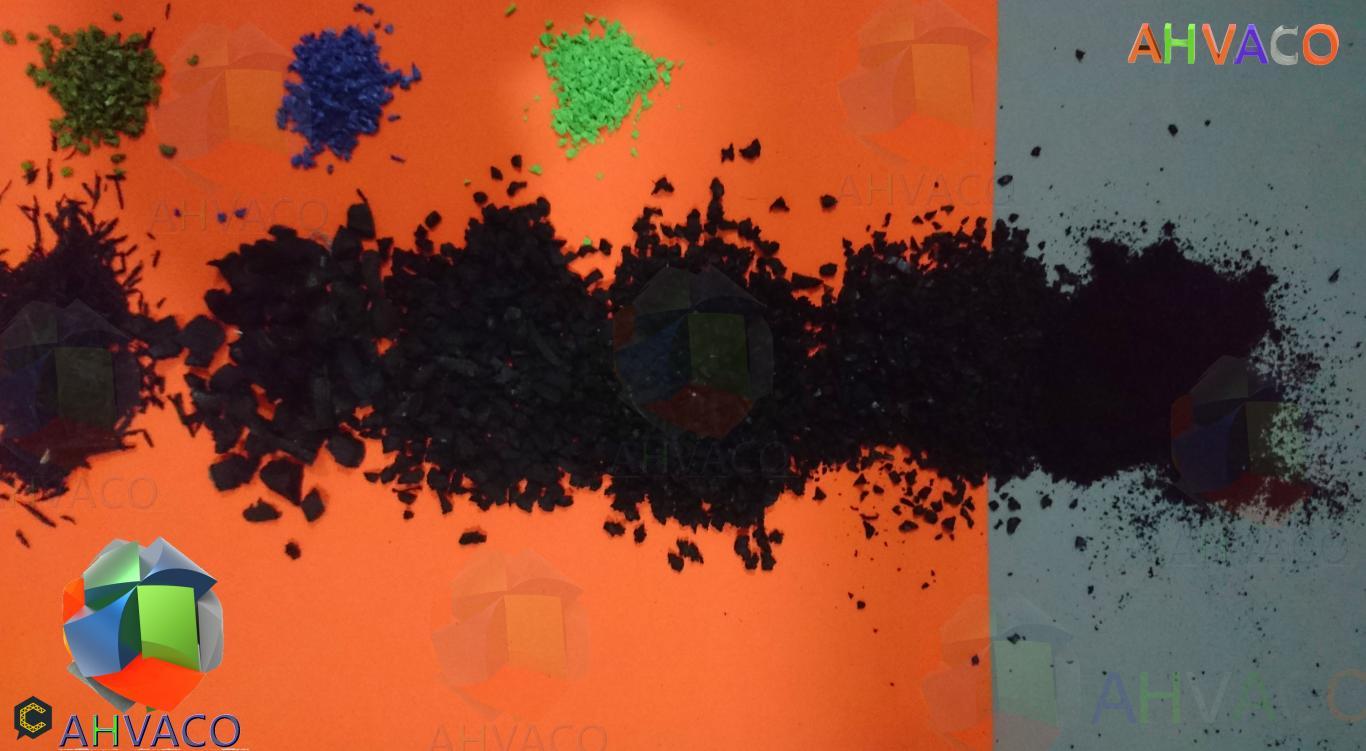 Venta de Granulo de Caucho reciclado para parques infantiles y canchas sinteticas
