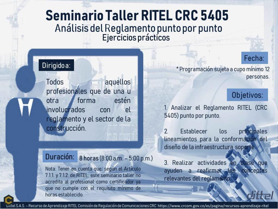 Seminario Taller Lineamientos RITEL CRC *****