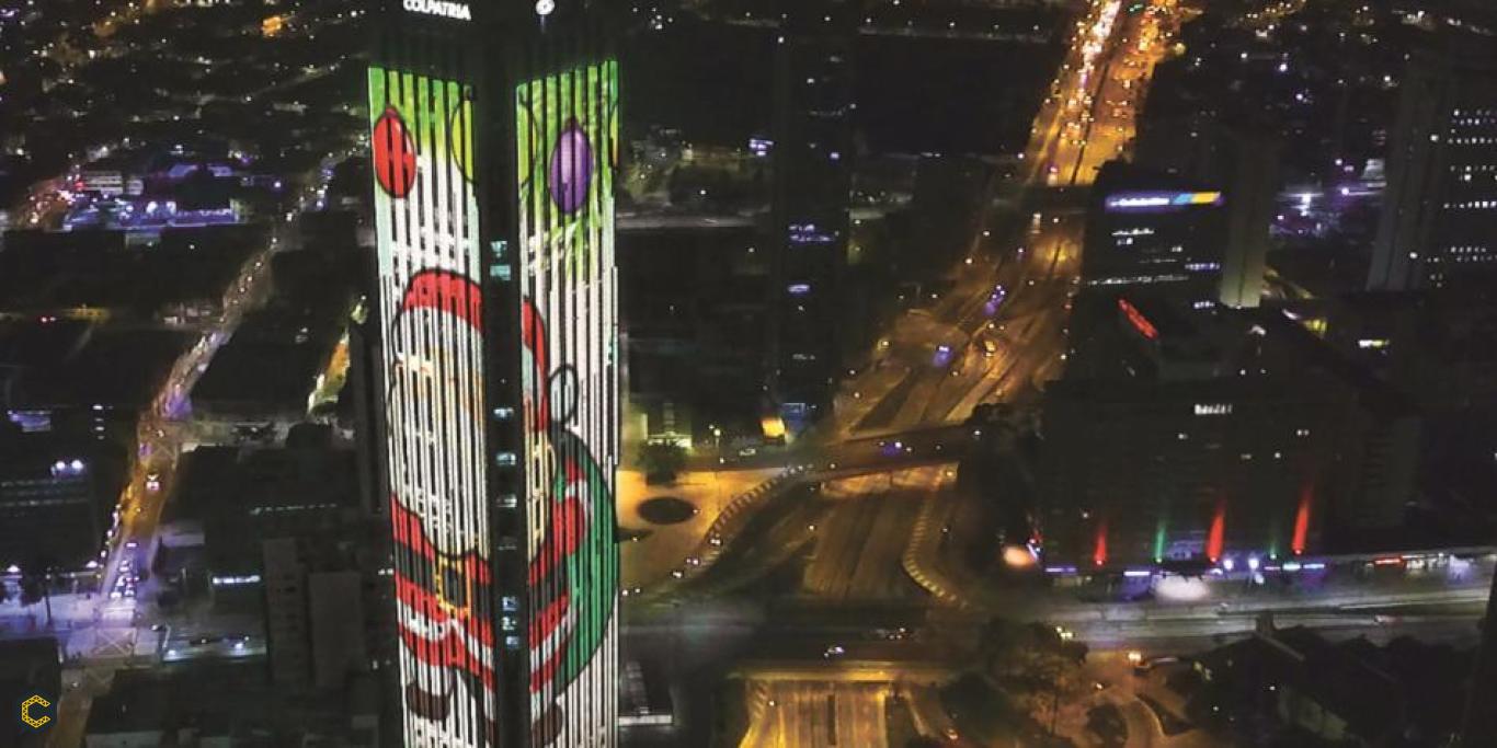 En Navidad, así funciona la iluminación de la Torre Colpatría