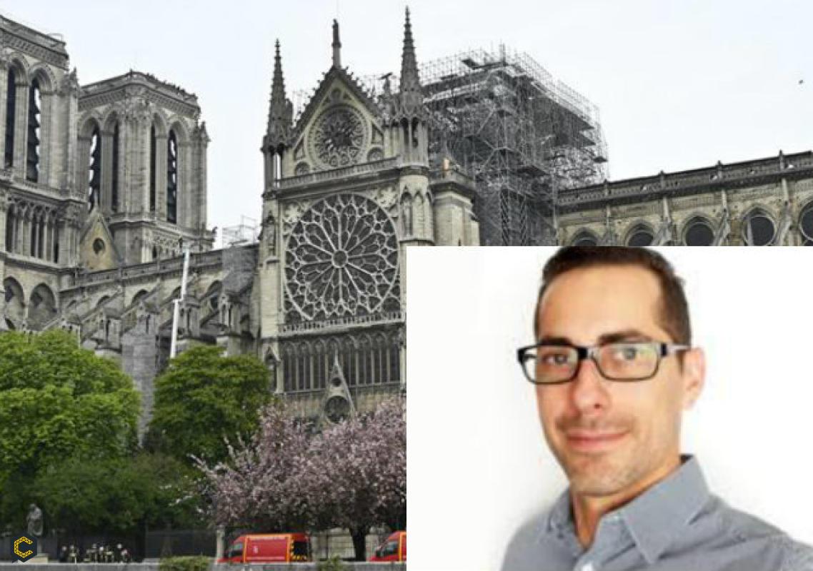 Leonardo Nepa, obtuvo el primer puesto en el concurso ¿Cómo reconstruirías la catedral de Notre Dame?