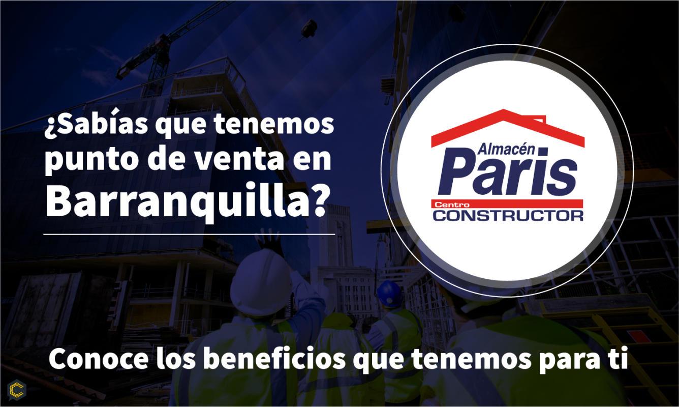 Llega a Barranquilla tu nuevo aliado en la construcción.