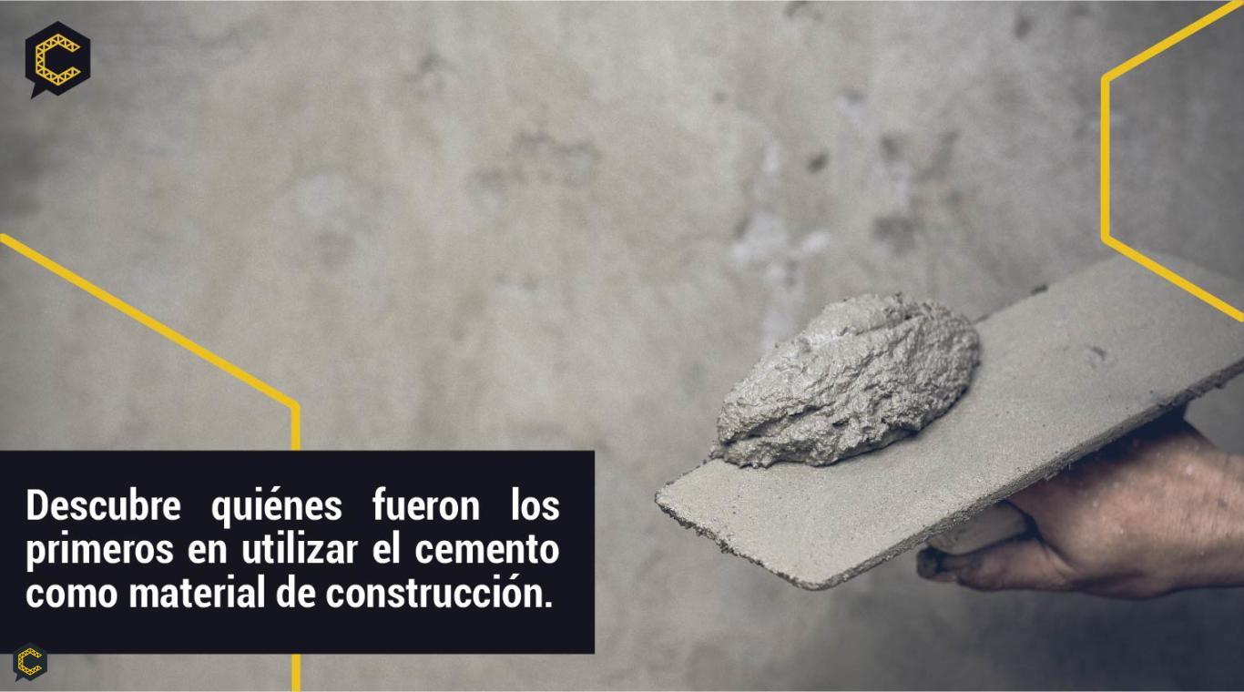 Conoce el origen del cemento