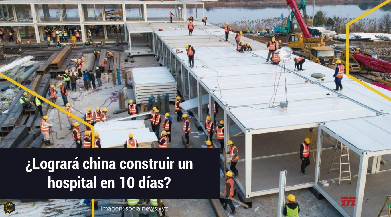 ¿Logrará China construir un hospital en 10 días?