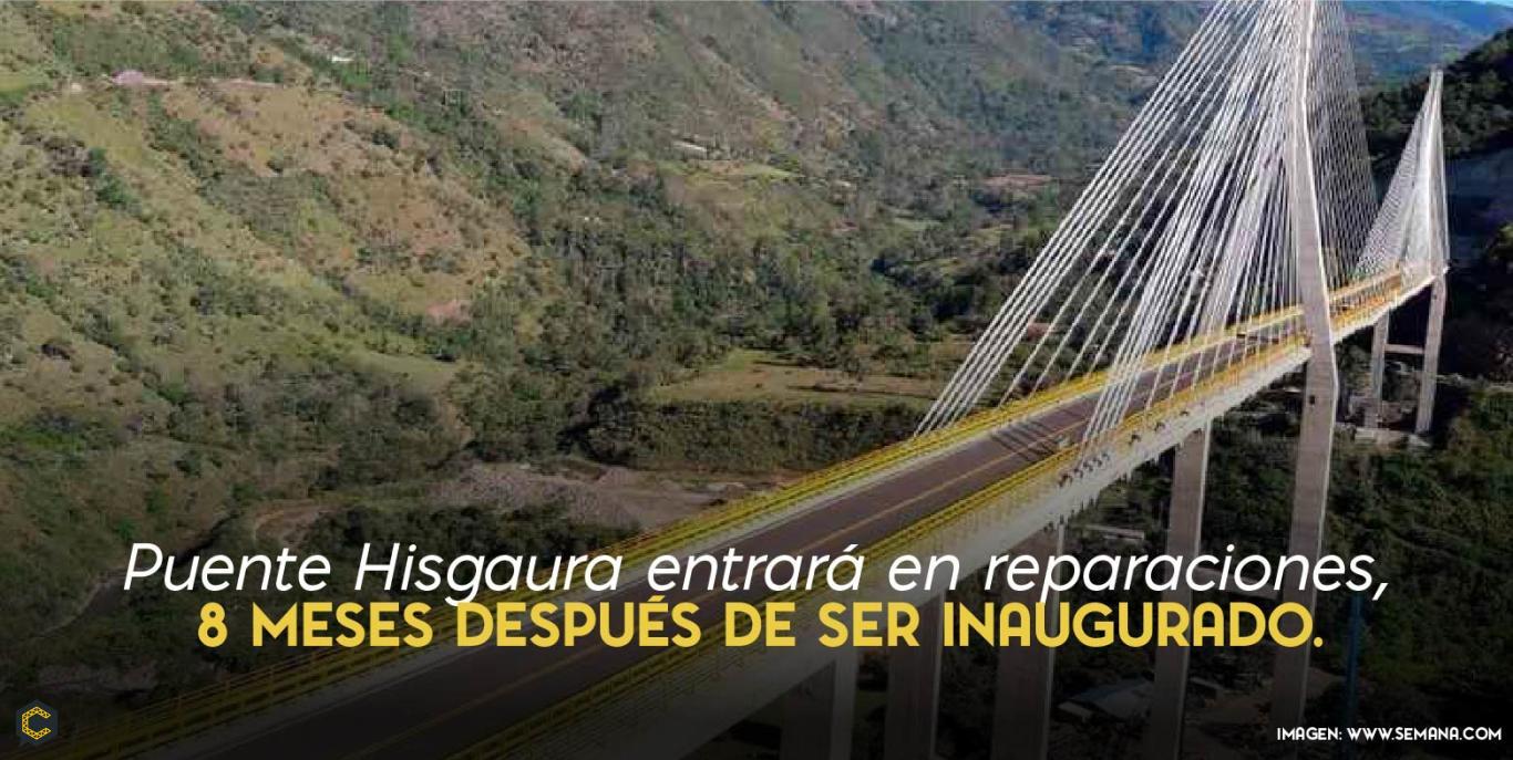 El Polémico puente entra en reparaciones.