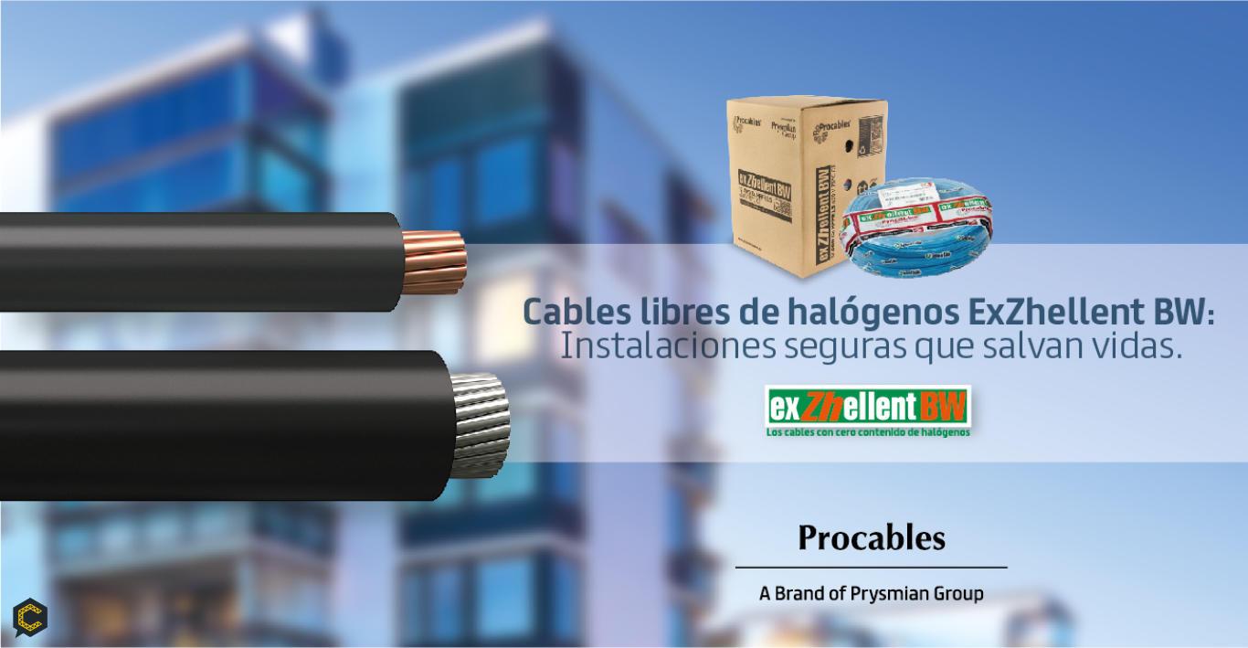 Cables libres de halógenos ExZhellent BW:  Instalaciones seguras que salvan vidas