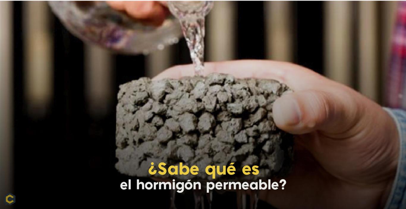 ¿Sabe qué es el hormigón permeable?