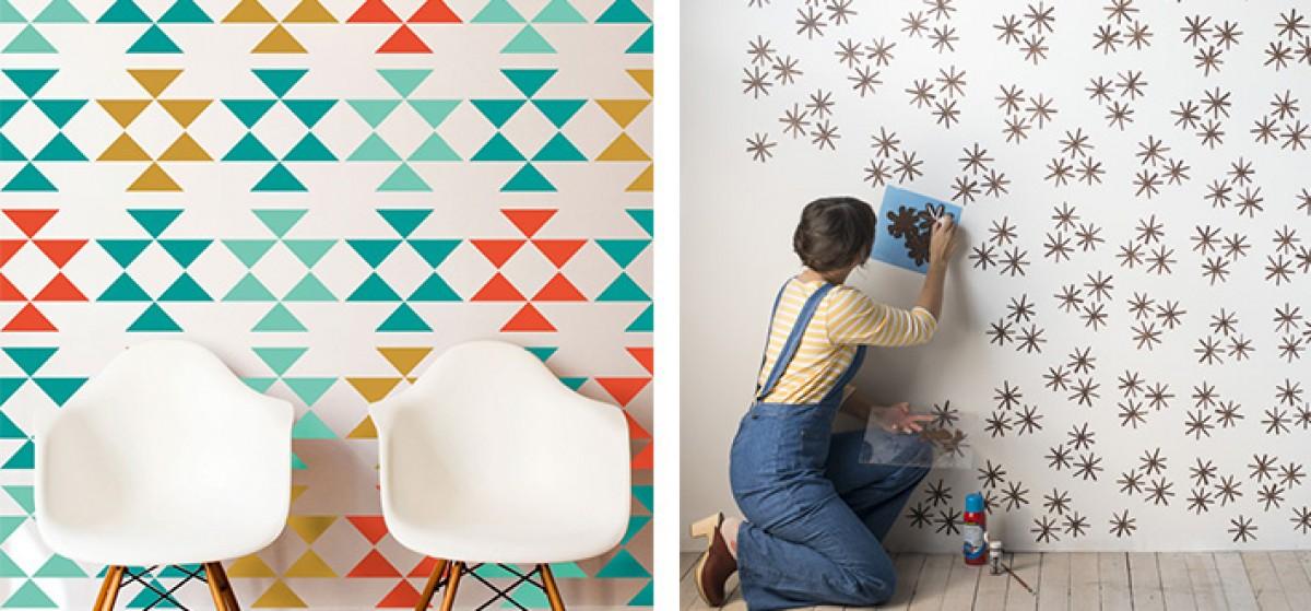 Aprende como pintar paso a paso las paredes con plantillas - Aprender a pintar paredes ...