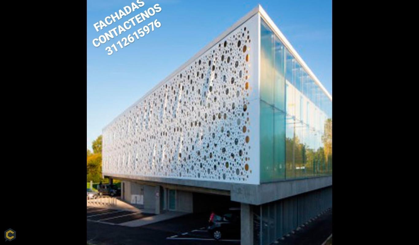 Fachadas Y Recubrimientos En Vidrio Alucobond Construyored - Recubrimientos-fachadas