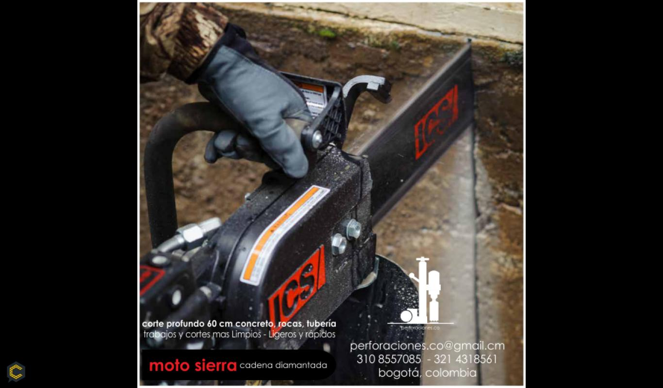 Moto Sierra - corte profundo hasta 60cm