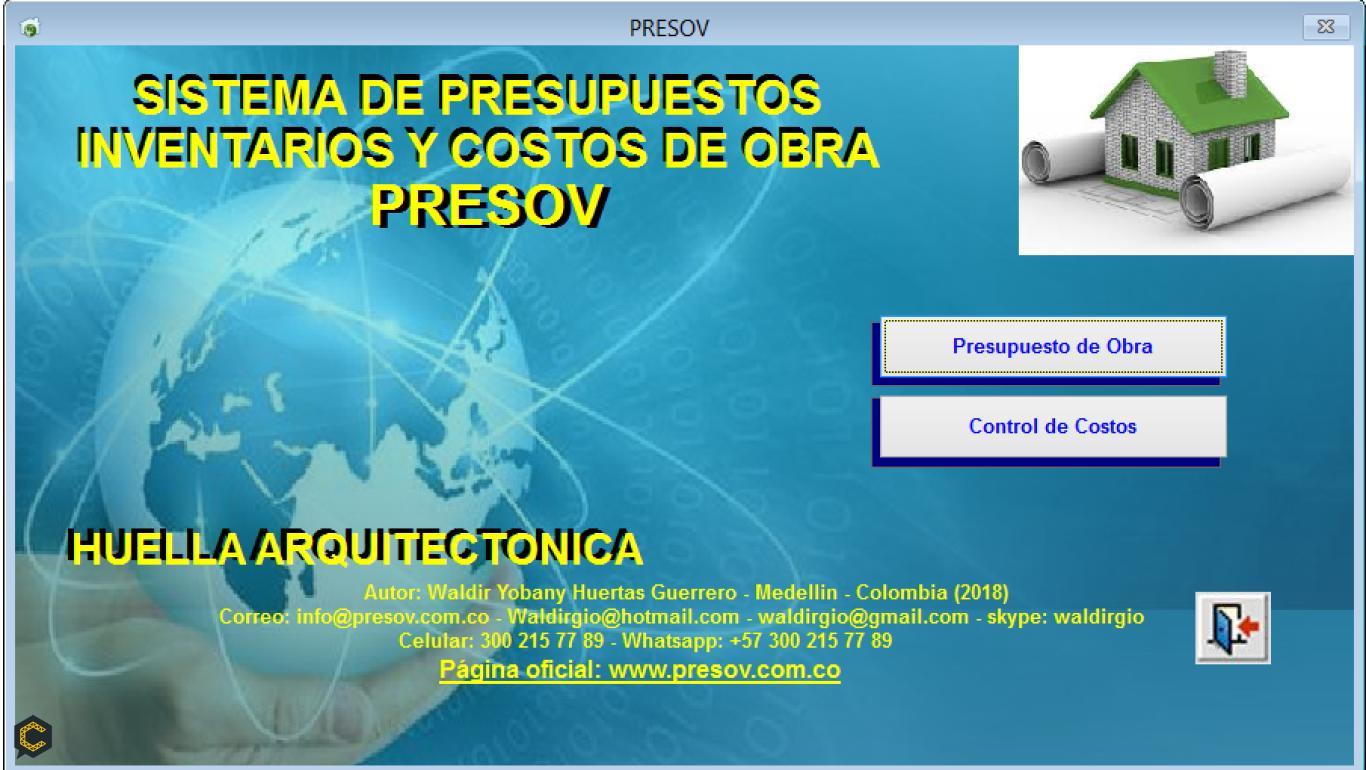 Presov Software para presupuestos y control de costos