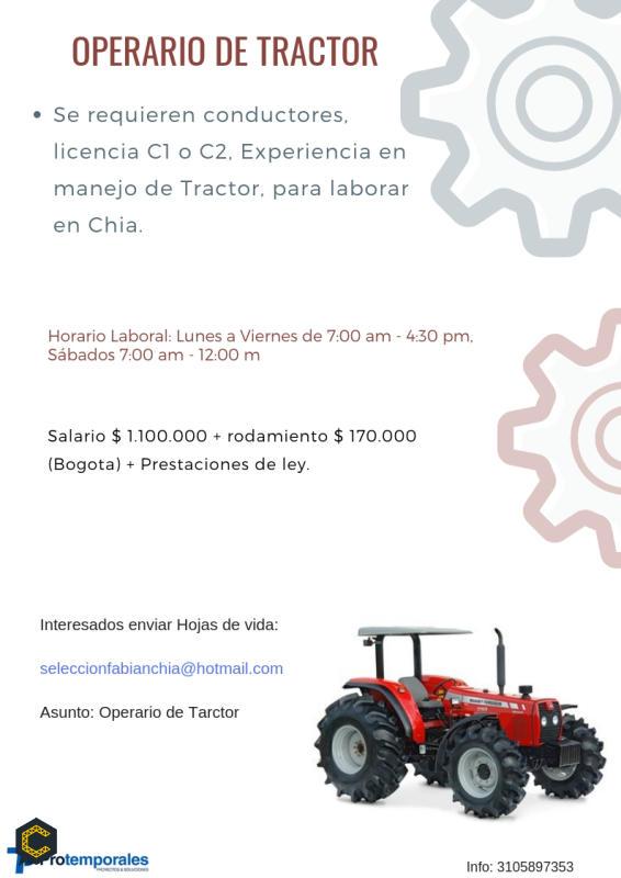 Operario de Tractor.