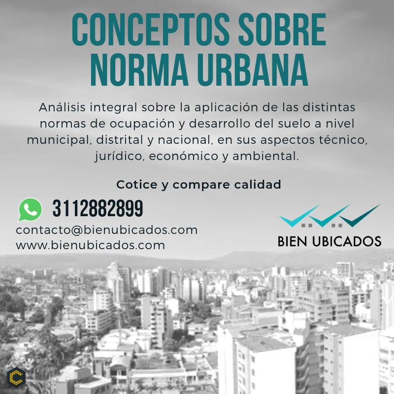 Conceptos sobre norma urbana