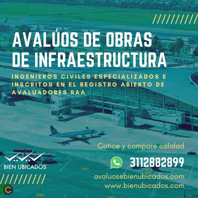 Avaluo de obras de infraestructura a nivel nacional