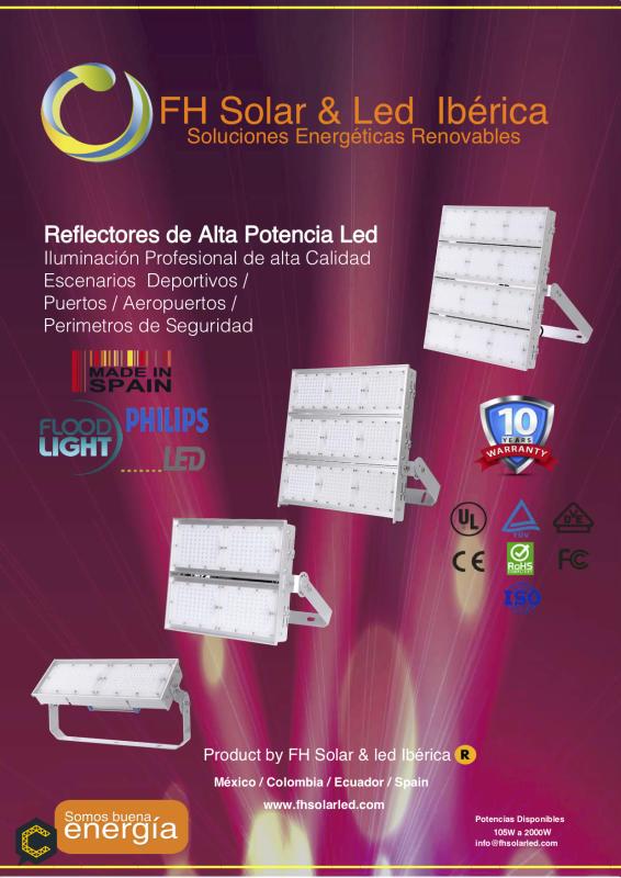 REFLECTOR LED ALTA POTENCIA TECNOLOGÍA PHILIPS 10 AÑOS DE GARANTÍA
