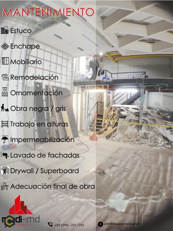 Servicios de mantenimiento y remodelación
