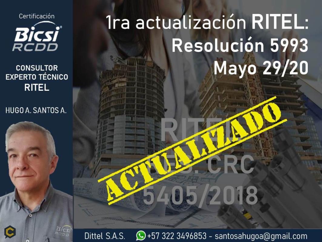 ARTÍCULO: 1ra actualización RITEL: Resolución ***** de mayo 29/*****