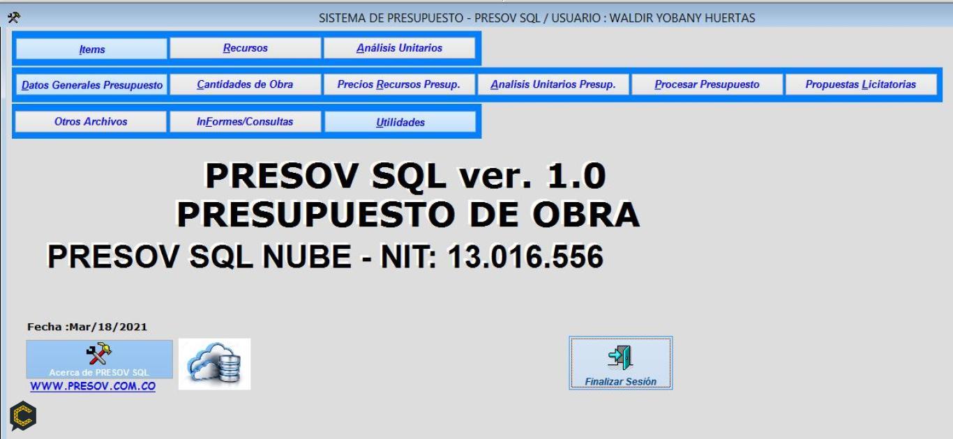 Presov,La solución eficiente para administrar sus obras, Presupuestos y control de costos