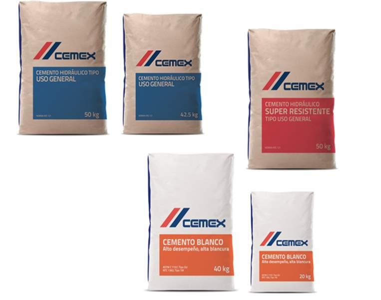 Cemento Gris y Blanco CEMEX