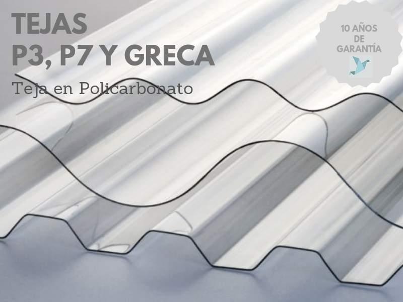TEJAS POLICARBONATO - TEJAS P3, P7 Y GRECA